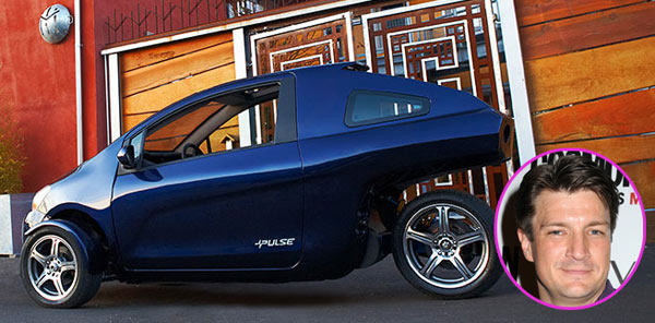 photo of Nathan Fillion Pulse Electric Car - car