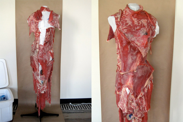 lady gaga, meat dress, 2010 mtv video music awards