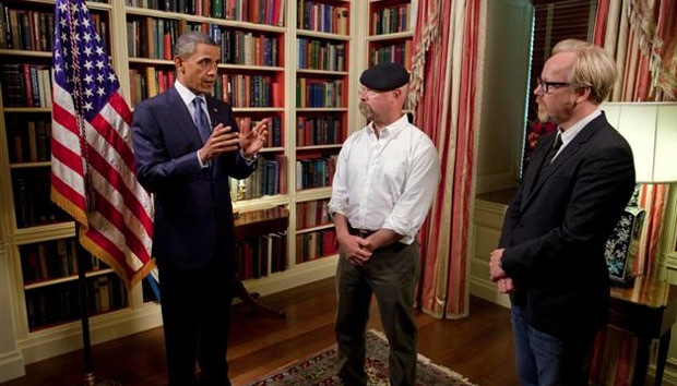 President Obama, Mythbusters, Discovery Channel, Heat Ray