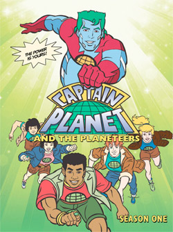 captain planet, dvd, season one, planeteers, tom cruise, whoopi goldberg, meg ryan, sting
