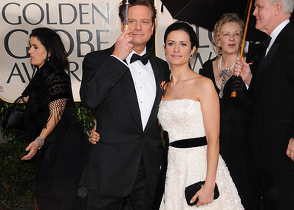 livia firth, colin firth, christiana couture, upcycled, eco-fashion, green carpet challenge, the single man