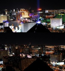 vegas strip earth hour
