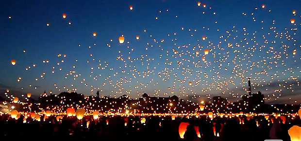 Watch 11,000 Paper Lanterns Float Into The Night Sky ...