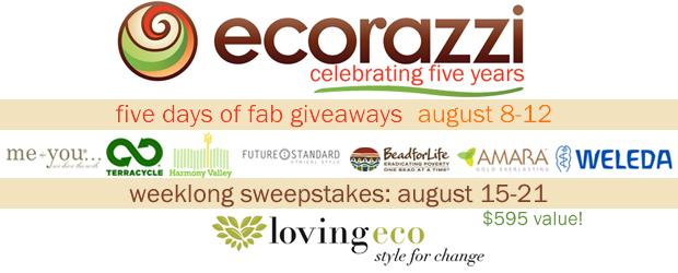 Ecorazzi 5th Anniversary Giveaway