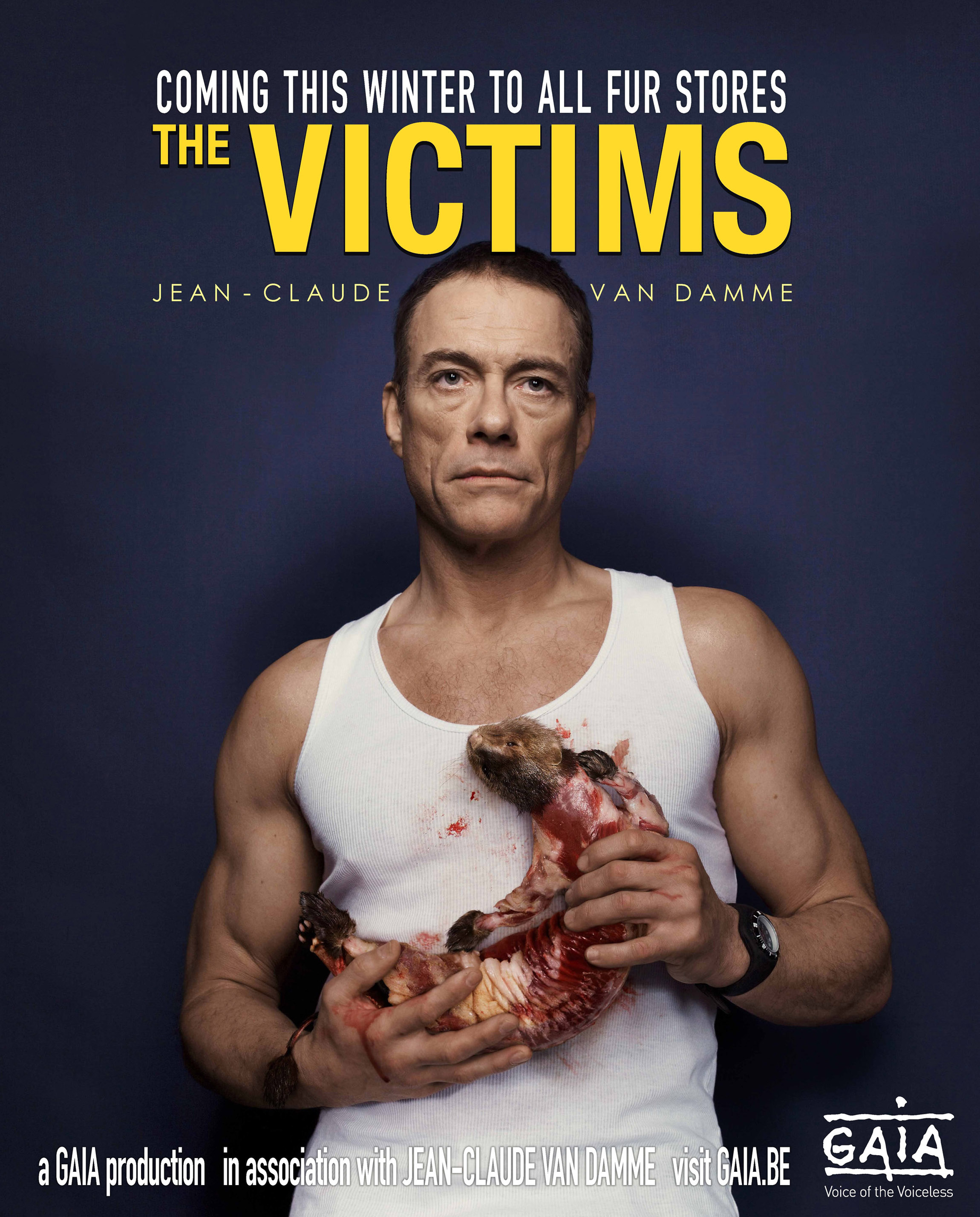 jean claude van damme speaks out against fur with massive