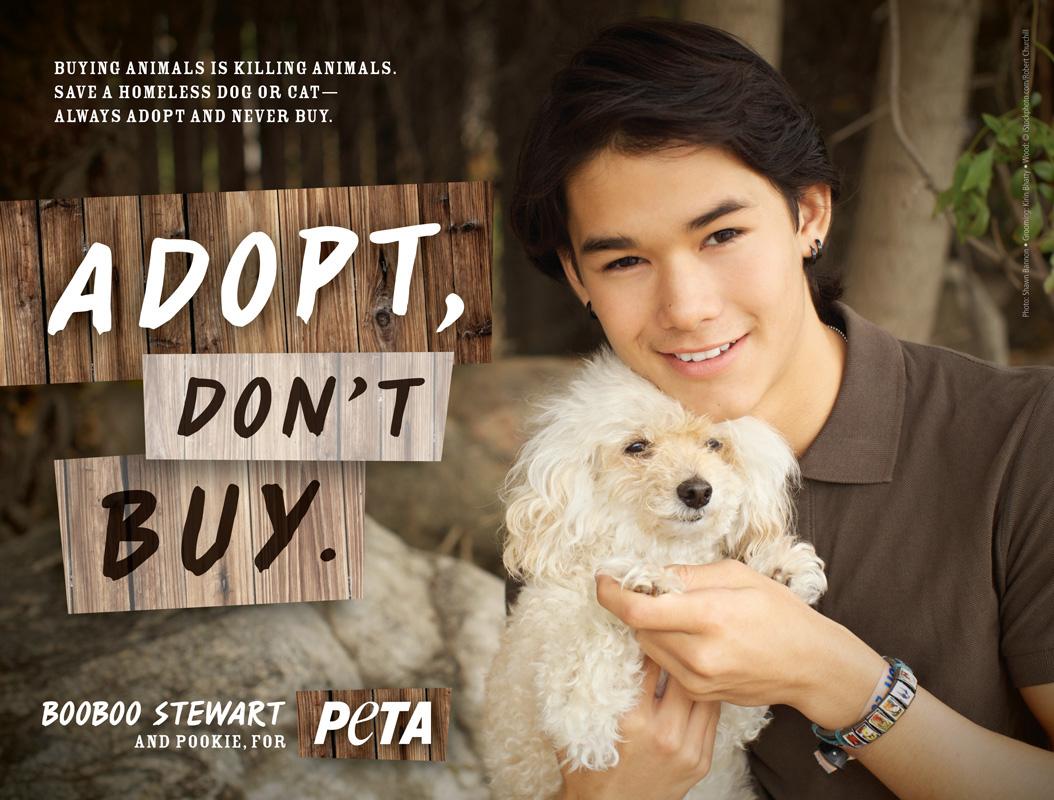 Booboo Stewart Promotes Adopting Animals
