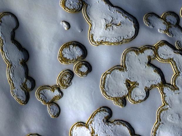 mars dry ice