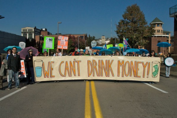 citizens protest against fracking