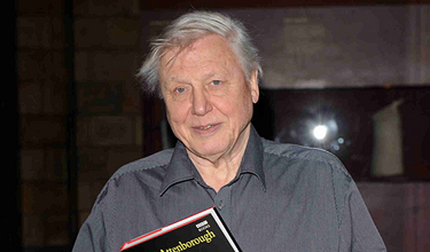 David Attenborough with his new book