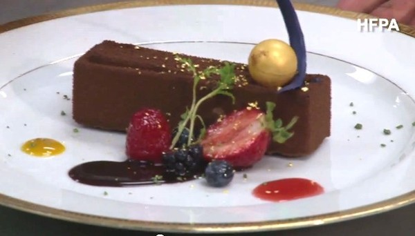 golden globes 2012 menu dessert