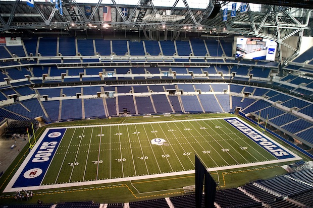 Lucas Oil Stadium in Indianapolis has a bevy of green features.