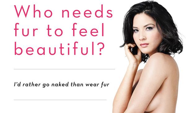 Olivia Munn poses nude for PETA