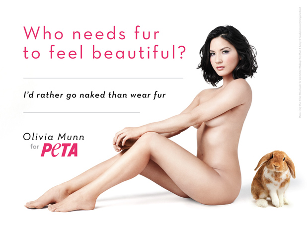 Olivia Munn is naked for PETA