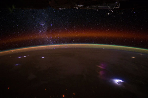 A shot of Earth from the International Space Station