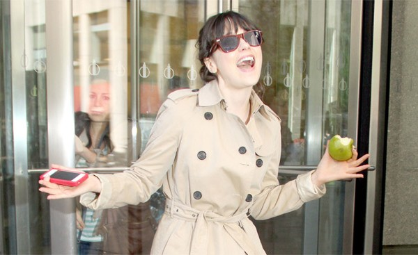 Zooey Deschanel donates money every month to charity.