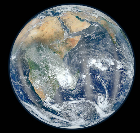 NASA shot of Earth Eastern Hemisphere