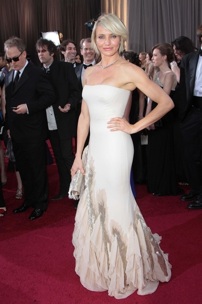 cameron diaz in gucci at 2012 oscars