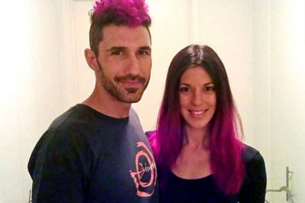 Survivor winners Ethan Zohn and Jenna Morasca battle cancer by dying hair pink