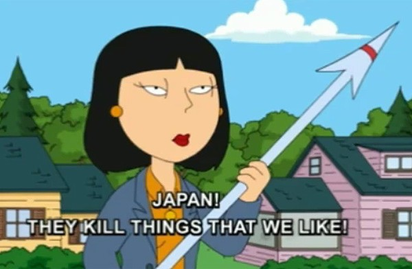 Family Guy mocks Japan's dolphin slaughter