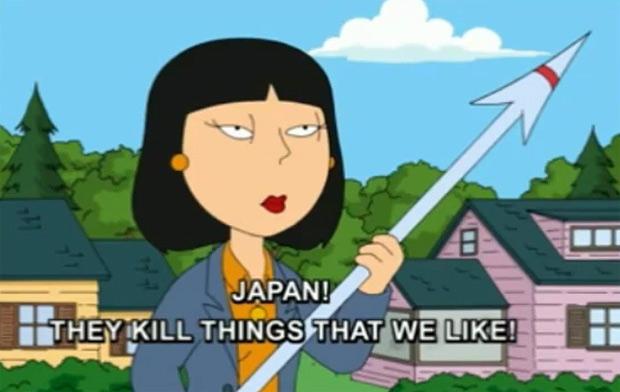 Family Guy mocks Japan's dolphin slaughter