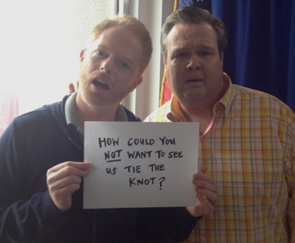 """Modern Family"" stars Jesse Tyler Ferguson and Eric Stonestreet share their support of the Prop 8 ruling."