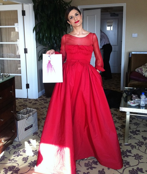 Livia Firth at the 2012 Academy Awards