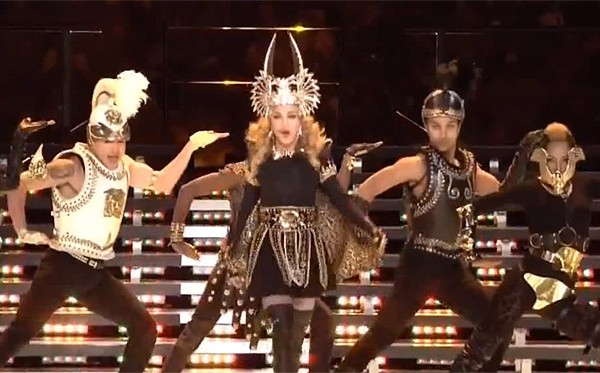 Madonna performing at Super Bowl 46
