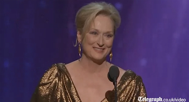 The Best Actress speech from Meryl Streep
