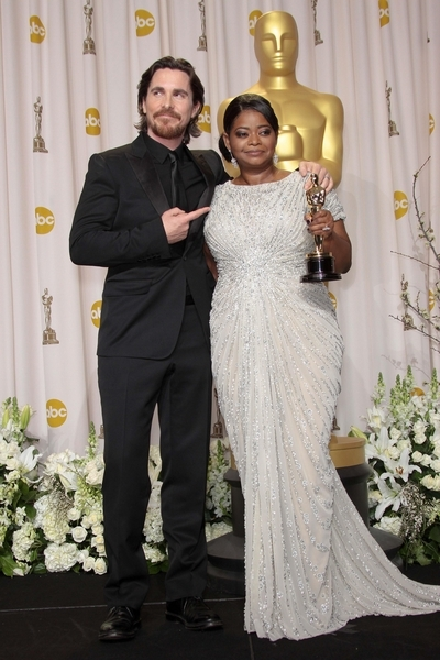 octavia spencer and christian bale at oscars