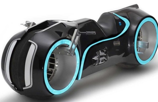 A shot of the Xenon electric lightcycle