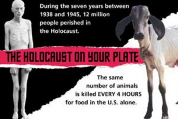 2003 PETA Holocaust on Your Plate ad campaign that caused the group to apologize for its offensiveness.