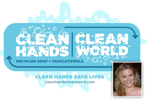 Alicia Silverstone leads the Clean Hands, Clean World celebrity poll.