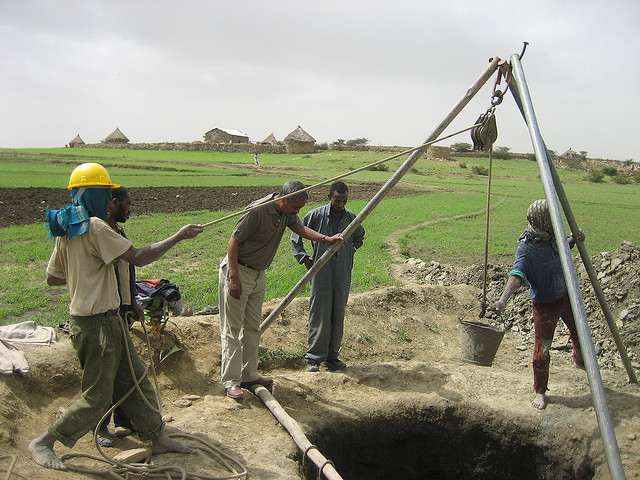 Digging a well