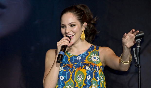 Katharine McPhee performing