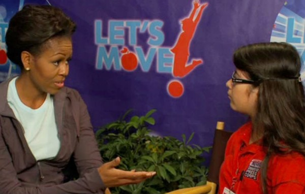 Michelle Obama interviewed by kid reporter heatlhy living