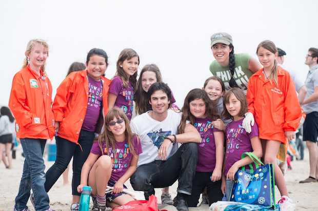 "Ian Somerhalder cleans up California as part of the ISF ""Let's Get Dirty"" Campaign"
