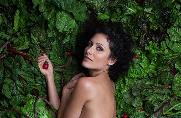 Lisa Edelstein is naked for PETA