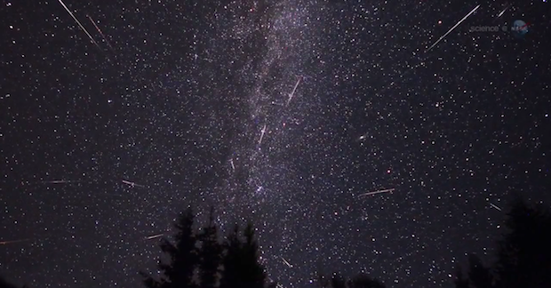 The Lyrid Meteor Shower peaks between midnight and 2:00AM on April 22.