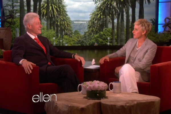 Bill Cliinton and Ellen DeGeneres discuss vegan lifestyle