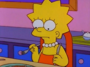 Lisa Simpson maintains vegetarian diet on The Simpsons
