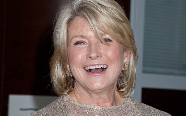 Martha Stewart starts her day with green juice.