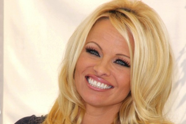 Pamela Anderson rescued a stray puppy from a Mumbai construction site.