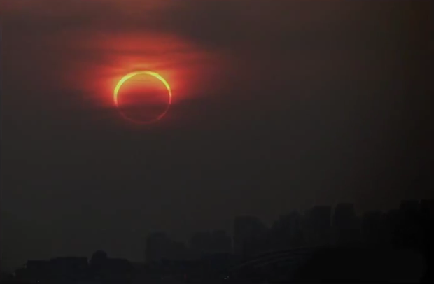 The annular eclipse will be visible to West Coast residents on Sunday.