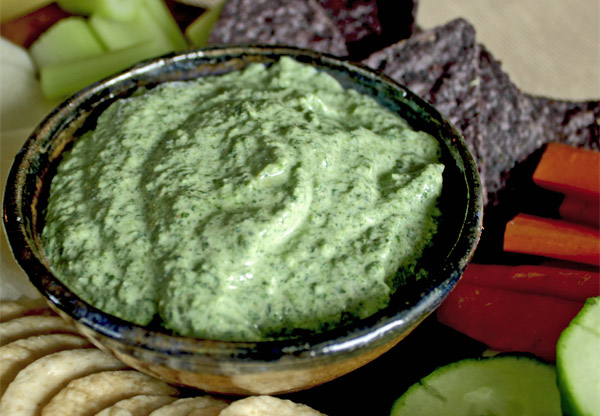 Recipe for vegan spinach dip