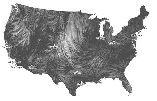 Google engineers create wind map