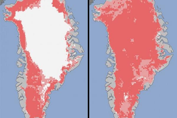 Greenland Ice Melt 2012