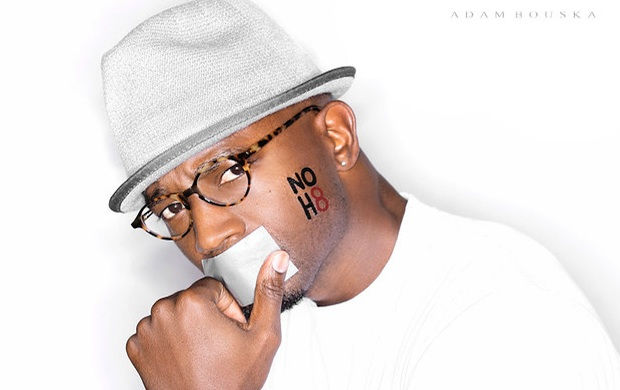 Taye Diggs joins NOH8 campaign for marriage equality