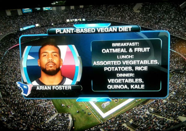 Arian Foster embraces vegan diet and maintains lead as NFL rusher