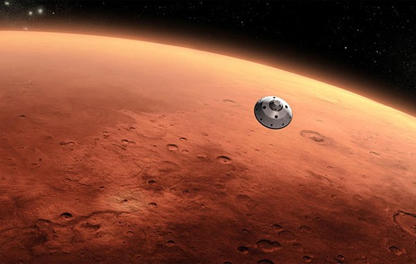 Mars landing NY Times Square