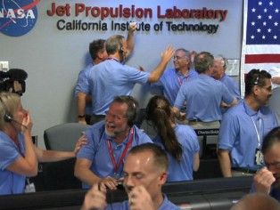 Curiosity land rover successfully touches down on Mars